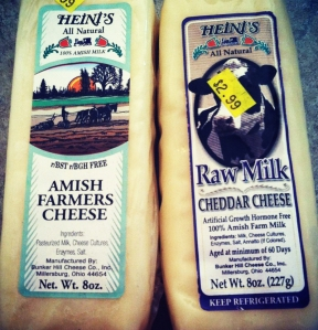 Amish raw milk cheese
